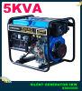 AC Single Phase 5kVA Open-Frame Key Start Diesel Generator