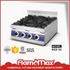 Stainless Steel Heavy Duty 6-Burner Gas Range for Table Top (HGR-66)
