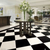 Pure White Polished Artificial Marble Living Room Floor Tile