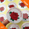 High Quality Round Rose Faint Fragrance Adhesive Labels