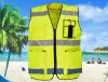 Factory Professional Supply Fluorescent Yellow Double Traffic Safety Men′s Vest