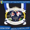 2017 Modern Metal Sport Soccer Heart Shape Medal