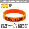 Custom Imprinted Silicone Wristbands Promotional Bracelets (PW12ASO)
