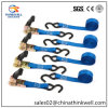 11000lbs Ratchet Tie Down Strap with S Hooks