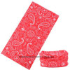 Customized Design Printed Red Paisley Microfiber Snowboard Balaclava