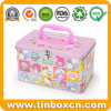 Lunch Tin Can Storage Case Metal Gift Box