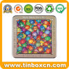 Square Tin Box for Puzzle, Metal Gift Box