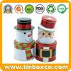 Santa Claus 3 Layers Iron Cylinder Christmas Gift Tin Box