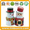 Santa Claus 3 Layers Iron Cylinder Christmas Gift Tin Box