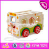 New Design Pull String Wooden Bus Toys for Toddlers W05c080
