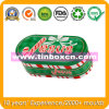 Christmas Tin with Oval Shape, Tin Can, Gift Tin Box