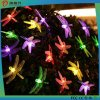 2016 New Product Party Christmas LED Solar Dragonfly Decoration Light