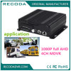 4G GPS Vehicle DVR with 1080 Pixel Dual SD Card Storage for Police Car Taxi Bus