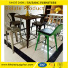 High Quality Backrest Barstool with Steel Leg