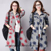 New Design Ladies Print Long Blouse