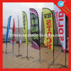 Environmental Polyester Flying Beach Flag Banner