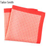 Luxury Silk Polyester Dots Plaid Printed Pocket Square Hanky Handkerchief