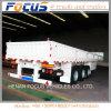 3axles/12tyres Cargo Semi Trailer, Side Board Semitrailer, Side Boards Flatbed Semi Trailer Sold to Myanmar