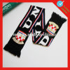 Knitted Sport Club Acrylic Scarf with Jacquard Logo