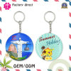 2016 Hot Selling 75mm Lady Gift Keychain Mirror Portable Tin Plate Cosmetic Mirror