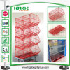 Retail Powder Coating Rolling Wire Stacking Basket Rack