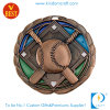 Custom 3D Antique Copper Baseball Medal for Souvenir Gift