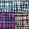 Light Yarn Check Wool Fabric Overcoat