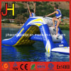 Water Park Inflatable Floating Water Slide with Climbing Stairs