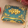 Rose Pattern Metal Jewelry Packing Box for Pretty Gril′s Gifts