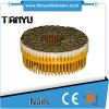 0 Degree /15 Degree Plastic Collated Galvanized Coil Nails