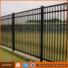 Black Galvanized Safety Steel Pipe Security Fence