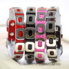 Punk Metal Crocdile Pet Lead PU Flashing Dog Collars
