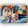 Modern Wall Art Nude Oil Painting on Canvas (KLNA-0010)