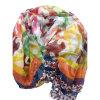 100% Silk Chiffon Printed Crinkle Shawl (AFS1000321)