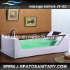 Luxurious Tempered Glass Wooden Bathtub (JS-8011)