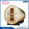 Outdoor Sauna House Barrel Sauna Room with Electric Heater/Wood Burning Stove