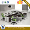 Luxury Office Furniture MDF L Shape Office Desk (HX-4PT059)