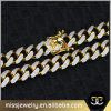 12mm CZ Micro Pave Men CZ Iced out Cuban Link Chain Mjcn062