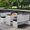 Hot Sell Wicker Dining Set for Outdoor Furniture