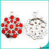 Red Stone Flower Charms DIY jewelry Charms (MPE)
