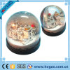 Plastic Photo Snow Globe One House Inside