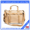 Designer Ladies Canvas Overnight Bag with Leather Trim
