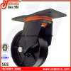 6 Inch Swivel and Fixed Black Dust Bin Iron Castors