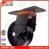 6 Inch Swivel and Fixed Black Dust Bin Iron Castors