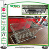 Metal Supermarket Zinc Plated Supermarket Shopping Cart