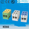 High Temperature Al Cu Conductor 2.5-50mm2 Electrical Cable Connecting Test Terminal Block (KE66)