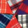 Fluff Long Yarn Check Wool Fabric