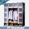 High Quality Plastic Home Furnitue Bedroom Wardrobe Storage Systems