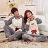 Flannel Autumn and Winter New Long - Sleeved Couples Pajamas Suit Men and Women Thick Cartoon Hutou Home Service