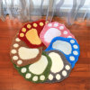 Acrylic Paw Polyester Bathroom Living Room Bath Non-Slip Mat